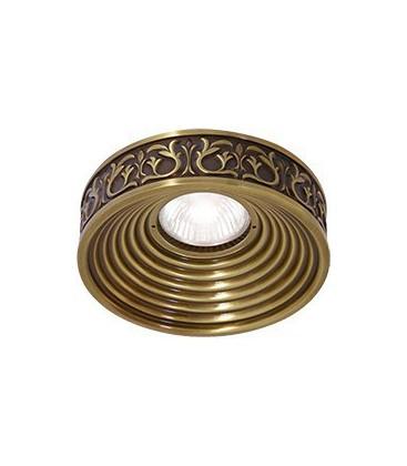 Круглый точечный светильник из латуни, FEDE коллекция EMPORIO, патина