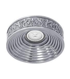 Круглый точечный светильник из латуни, FEDE коллекция EMPORIO, блестящий хром