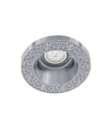 Круглый встраиваемый точечный светильник из латуни, FEDE коллекция EMPORIO ROUND, блестящий хром