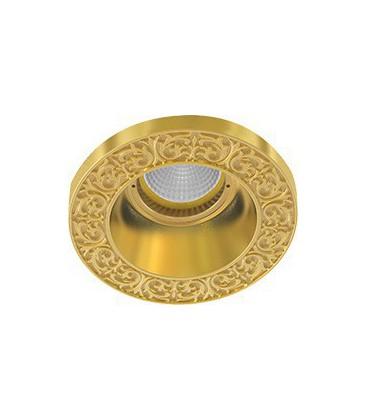 Круглый встраиваемый точечный светильник из латуни, FEDE коллекция EMPORIO ROUND, блестящее золото