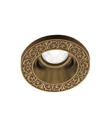 Круглый встраиваемый точечный светильник из латуни, FEDE коллекция EMPORIO ROUND, патина