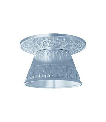 Круглый встраиваемый точечный светильник из латуни с декоративным рассеивателем, FEDE EMPORIO ROUND II, блестящий хром