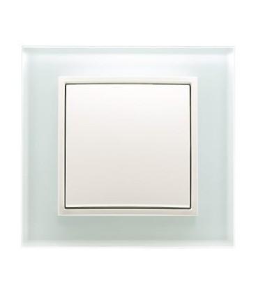 Выключатель в сборе Berker серии B.7 Glas, полярная белизна