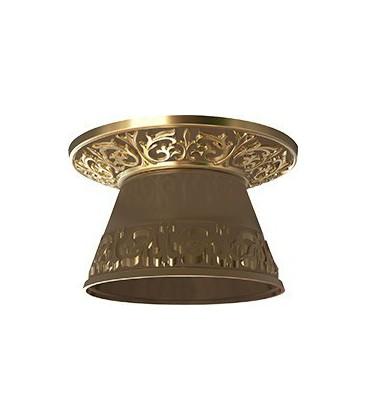 Круглый встраиваемый точечный светильник из латуни с декоративным рассеивателем, FEDE EMPORIO ROUND II, патина