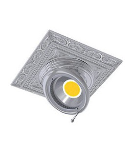 Квадратный встраиваемый поворотный светильник из латуни, FEDE коллекция EMPORIO SQUARE, блестящий хром