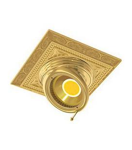 Квадратный встраиваемый поворотный светильник из латуни, FEDE коллекция EMPORIO SQUARE, блестящее золото
