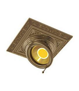 Квадратный встраиваемый поворотный светильник из латуни, FEDE коллекция EMPORIO SQUARE, патина
