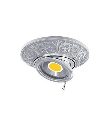 Круглый встраиваемый поворотный точечный светильник из латуни, FEDE коллекция EMPORIO SWIVEL & TILT, блестящий хром