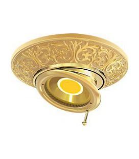 Круглый встраиваемый поворотный точечный светильник из латуни, FEDE коллекция EMPORIO SWIVEL & TILT, блестящее золото