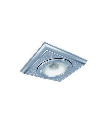 Квадратный одинарный встраиваемый точечный светильник из латуни, FEDE коллекция EMPORIO MODULAR I, блестящий хром