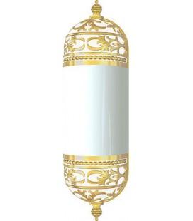 Настенный светильник с плафоном, FEDE коллекция EMPORIO WALL LIGHT I, золото с белой патиной