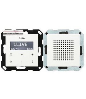 Радиоприемник скрытого монтажа с функцией RDS с динамиком Gira, белый
