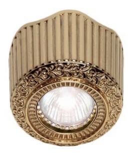 Накладной точечный светильник из латуни, FEDE коллекция San Sebastian Surface, блестящее золото