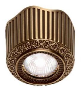 Накладной точечный светильник из латуни, FEDE коллекция San Sebastian Surface, патина