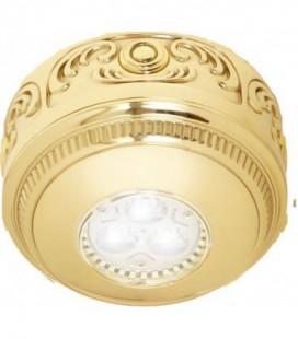 Накладной точечный светильник из латуни, FEDE коллекция ROMA Surface, блестящее золото
