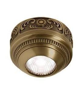 Накладной точечный светильник из латуни, FEDE коллекция ROMA Surface, патина