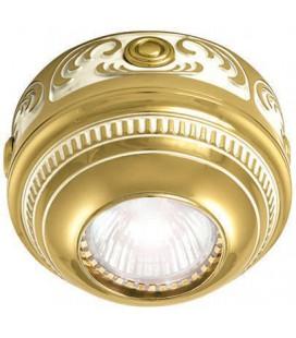 Накладной точечный светильник из латуни, FEDE коллекция ROMA Surface, золото с белой патиной