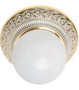Накладной точечный светильник из латуни в сборе, FEDE коллекция BILBAO I, золото с белой патиной