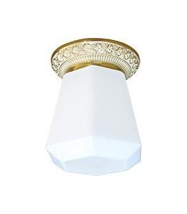 Накладной точечный светильник из латуни в сборе, FEDE коллекция BILBAO I DECO, золото с белой патиной