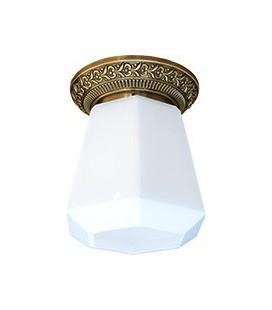 Накладной точечный светильник из латуни в сборе, FEDE коллекция BILBAO I DECO, патина