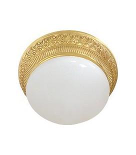 Накладной точечный светильник из латуни с матовым плафоном (на 2 лампы), FEDE коллекция BILBAO II, блестящее золото