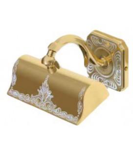 Светильник из латуни для подсветики картин, малая модель, FEDE коллекция SIENA, золото с белой патиной