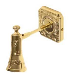 Поворотный настенный светильник из латуни, FEDE коллекция SIENA, блестящее золото