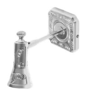 Поворотный настенный светильник из латуни, FEDE коллекция SIENA, блестящий хром