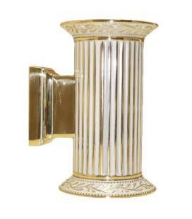 Настенный светильник из латуни, FEDE коллекция PARIS up and down, золото с белой патиной