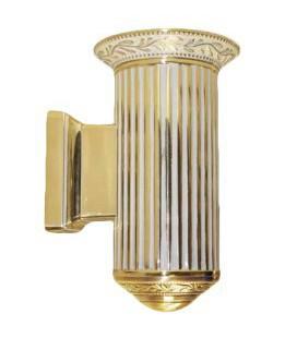 Настенный светильник из латуни, FEDE коллекция PARIS up or down, золото с белой патиной