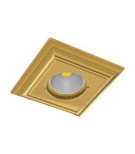 Квадратный встраиваемый точечный светильник из латуни, FEDE коллекция PADOVA, блестящее золото