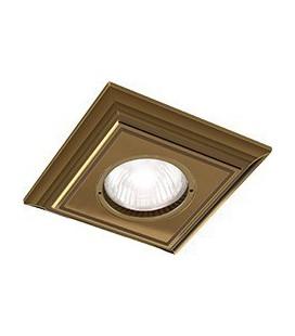 Квадратный встраиваемый точечный светильник из латуни, FEDE коллекция PADOVA, патина