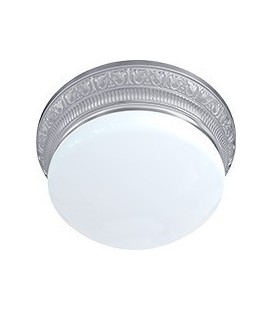 Накладной точечный светильник из латуни с плафоном (на 3 лампы), FEDE коллекция EMPORIO III, блестящий хром