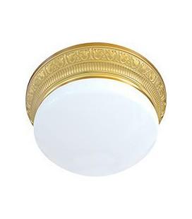 Накладной точечный светильник из латуни с плафоном (на 3 лампы), FEDE коллекция EMPORIO III, блестящее золото