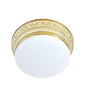 Накладной точечный светильник из латуни с плафоном (на 3 лампы), FEDE коллекция EMPORIO III, золото с белой патиной
