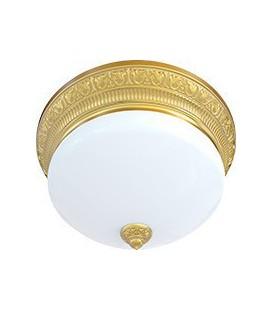 Накладной точечный светильник из латуни с плафоном (на 3 лампы), FEDE коллекция EMPORIO III DECO, блестящее золото
