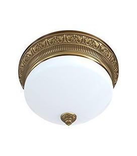 Накладной точечный светильник из латуни с плафоном (на 3 лампы), FEDE коллекция EMPORIO III DECO, патина