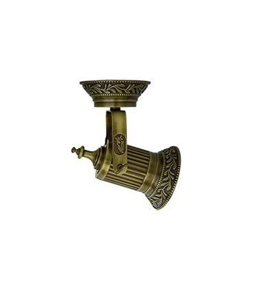 Накладной поворотный светодиодный светильник из латуни, FEDE коллекция VIENNA PAR 30 LED, патина