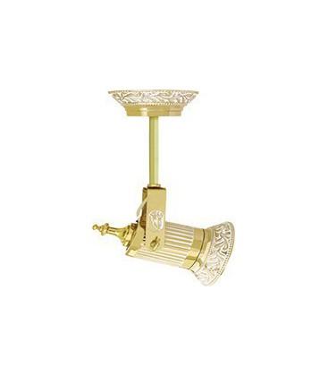 Накладной поворотный светодиодный светильник из латуни, FEDE коллекция VIENNA PAR 30 LED & PIPE, золото с белой патиной