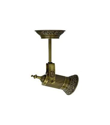 Накладной поворотный светодиодный светильник из латуни, FEDE коллекция VIENNA PAR 30 LED & PIPE, патина