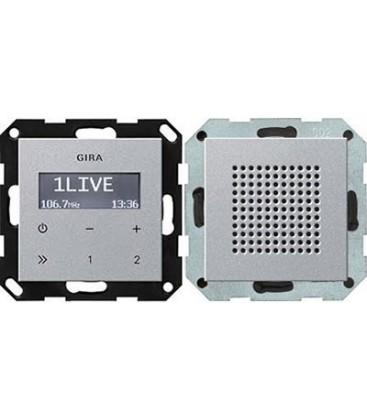 Радиоприемник скрытого монтажа с функцией RDS с динамиком Gira, алюминий