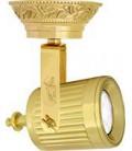 Накладной поворотный светильник из латуни с патроном GU10, FEDE коллекция VIENNA, блестящее золото