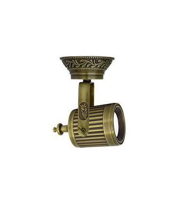 Накладной поворотный светильник из латуни с патроном GU10, FEDE коллекция VIENNA, патина