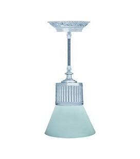 Подвесной светильник из латуни, FEDE коллекция VIENNA GLASS, блестящий хром