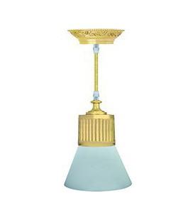 Подвесной светильник из латуни, FEDE коллекция VIENNA GLASS, блестящее золото