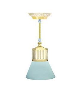 Подвесной светильник из латуни, FEDE коллекция VIENNA GLASS, золото с белой патиной