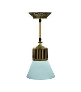 Подвесной светильник из латуни, FEDE коллекция VIENNA GLASS, патина