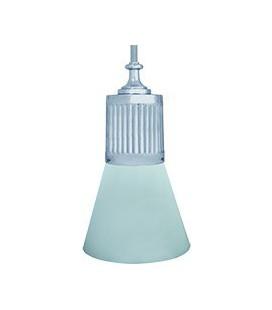 Подвесной светильник из латуни, FEDE коллекция VIENNA GLASS & PIPE, блестящий хром