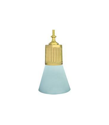 Подвесной светильник из латуни, FEDE коллекция VIENNA GLASS & PIPE, блестящее золото