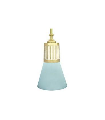 Подвесной светильник из латуни, FEDE коллекция VIENNA GLASS & PIPE, золото с белой патиной